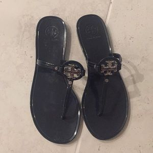 Tory Burch Navy jelly sandals size 8